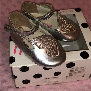 🦋 Sophia Webster baby silver butterfly shoes
